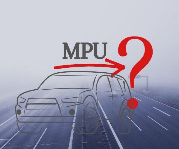 Náčrt automobilu a MPU